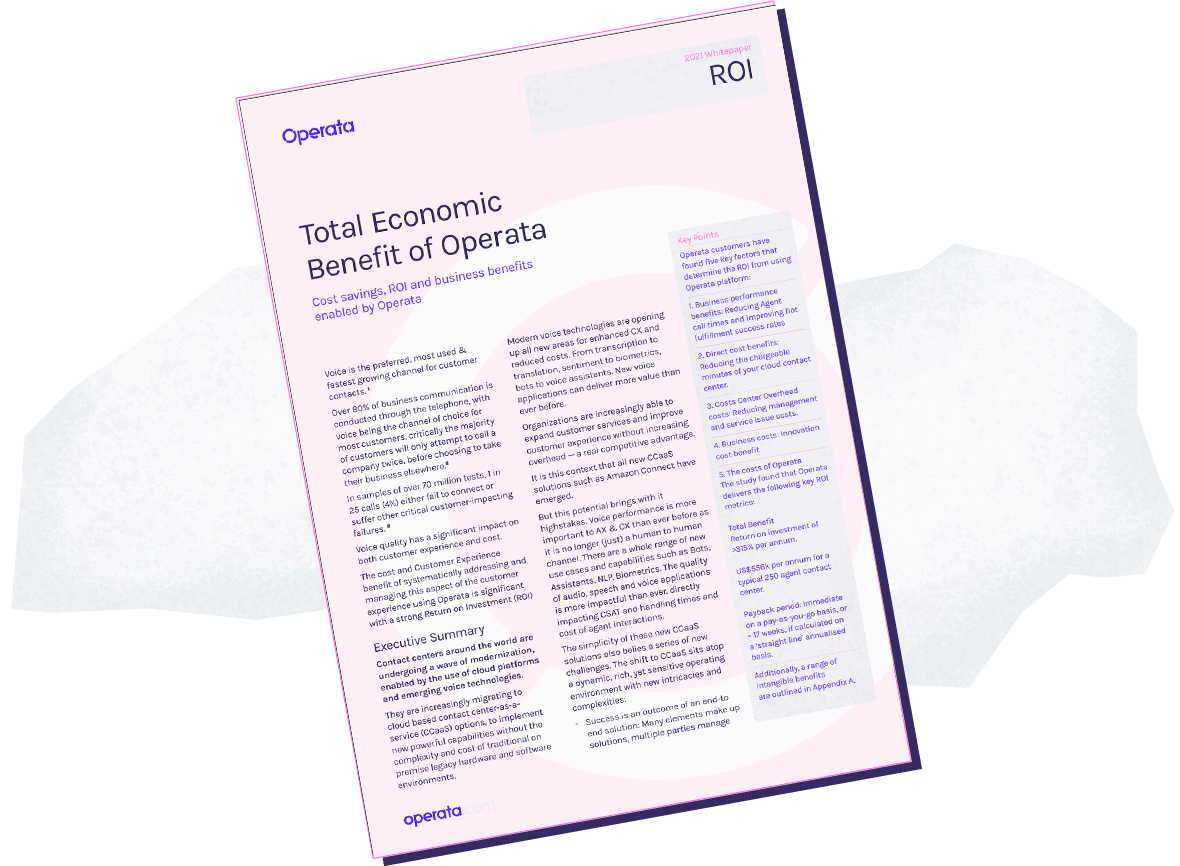 Total economic impact CCaaS monitoring assurance